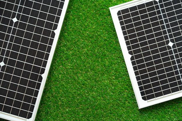 Panneau d'alimentation solaire à énergie alternative close up