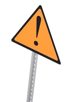 Panneau d'avertissement. image générée numériquement. rendu 3d
