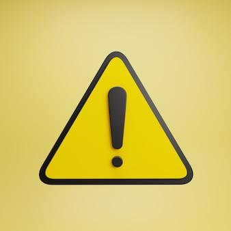 Panneau d'avertissement jaune réaliste