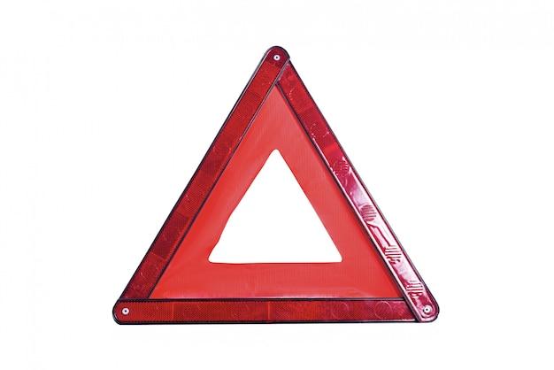 Panneau d'avertissement triangle rouge