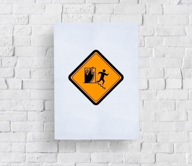 Panneau d'avertissement d'urgence de sortie de secours