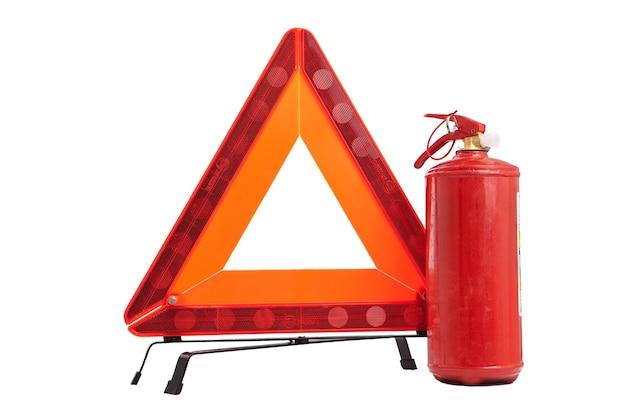 Panneau D'avertissement D'urgence Photo Premium