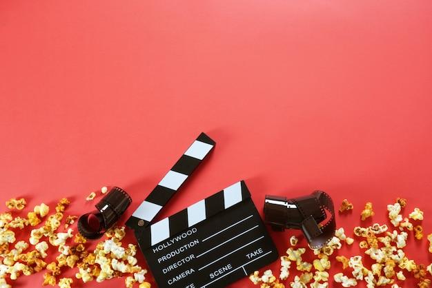 Panneau clap de film avec espace de copie.