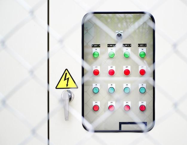 Panneau de commande électrique et arrière-plan