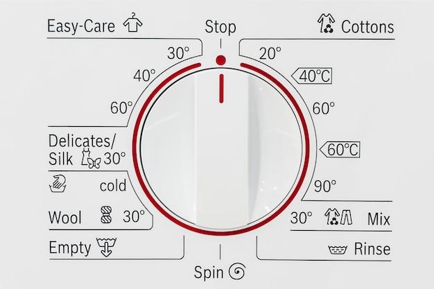 Panneau de commande de linge ou machine à laver