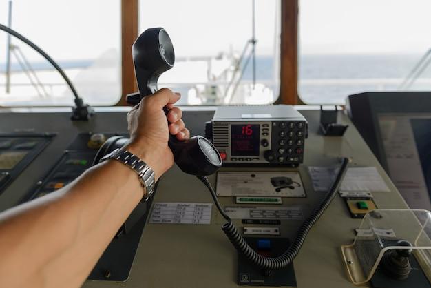 Panneau de commande de navigation et radio vhf