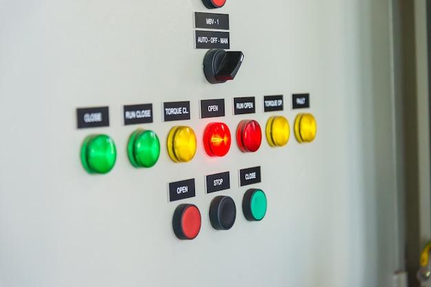 Panneau de contrôle dans l'usine