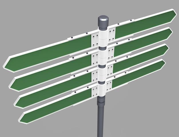 Panneau de direction vide avec 8 flèches