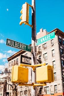 Panneau directionnel en ville