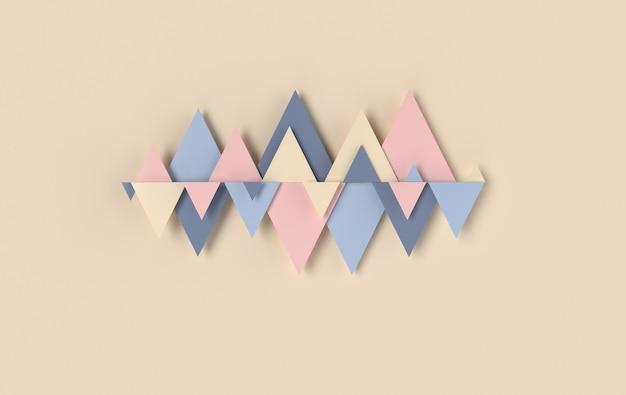 Panneau de fond abstrait triangle losange avec éléments de décoration trigons en céramique ou en béton