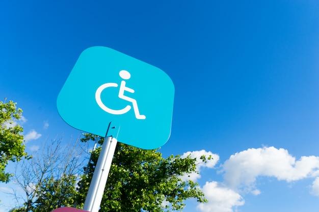 Panneau d'invalidité stationnement extérieur