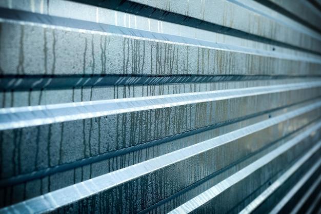 Panneau métallique humide pour l'espace de copie, fond argenté nervuré en métal