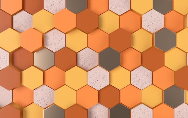 Panneau en nid d'abeille cellulaire moderne avec hexagones