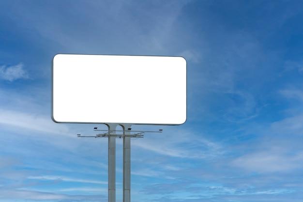 Panneau rectangulaire blanc pour la publicité