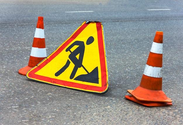 Panneau de réparation de route