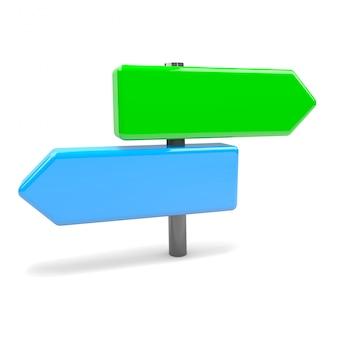 Panneau de signalisation de flèches pointant dans des directions opposées