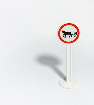 Panneau de signalisation de wagon isolé sur blanc