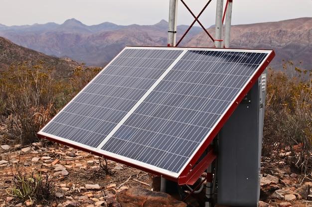 Un panneau solaire.