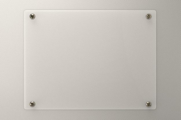 Panneau de verre vide de rendu 3d ou panneau acrylique