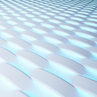 Panneaux blancs avec luminescence. rendu 3d.