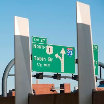 Panneaux de signalisation à boston, massachusetts, usa