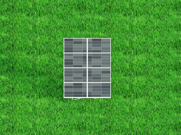 Panneaux solaires sur le fond du ciel centrale solaire panneaux solaires bleus rendu 3d
