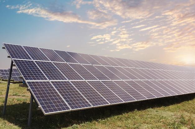 Panneaux solaires sur le terrain