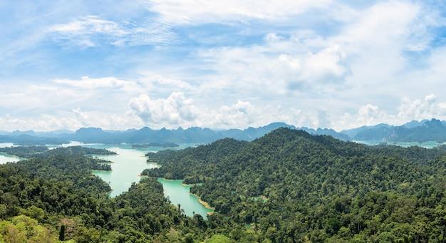 Panorama aérien du lac