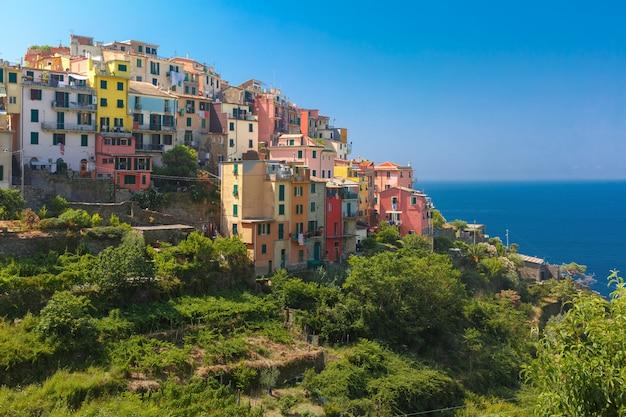 Panorama de corniglia, cinque terre, ligurie, italie