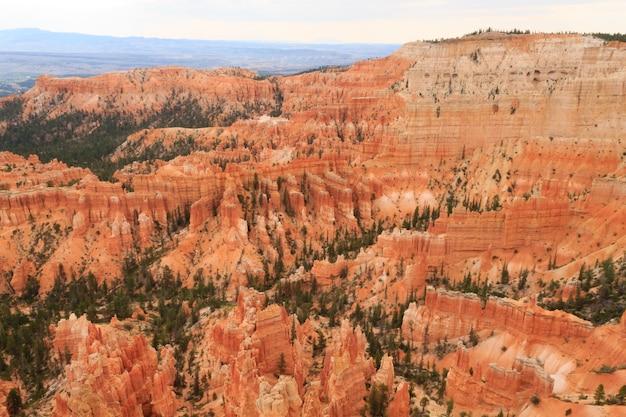 Panorama depuis le parc national de bryce canyon