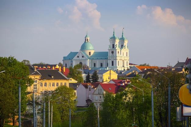 Panorama du centre historique de hrodna, biélorussie