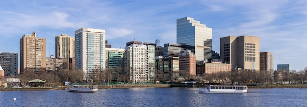 Panorama du centre-ville de boston