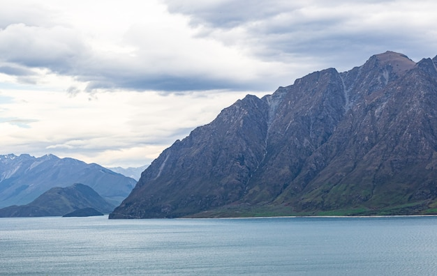 Panorama du lac hawea ile sud nouvelle zelande