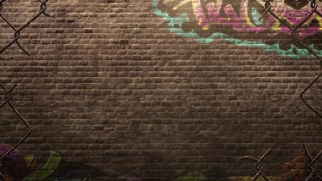 Panorama du mur de grunge du bâtiment dans la rue en été