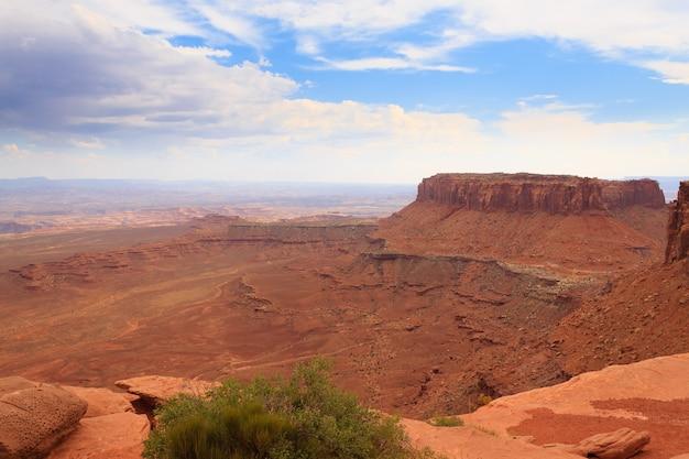 Panorama du parc national de canyonlands, usa.