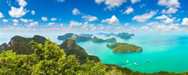 Panorama du parc national de mu ko ang thong, thaïlande