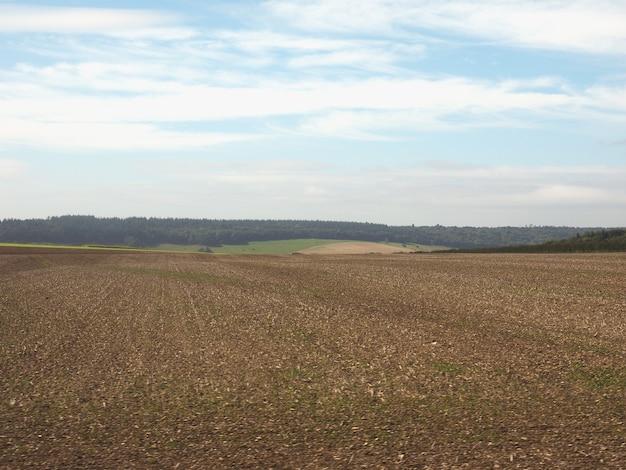 Panorama du pays anglais à salisbury