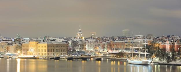 Panorama du paysage urbain de stockholm