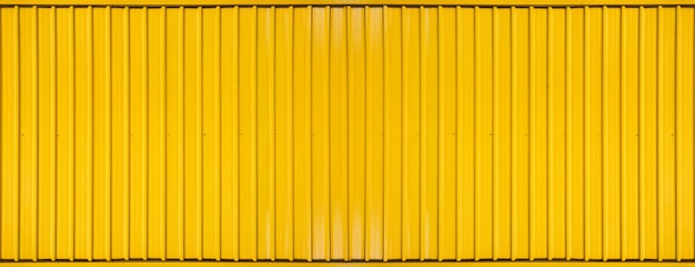 Panorama de la ligne rayée de conteneur boîte jaune texturé