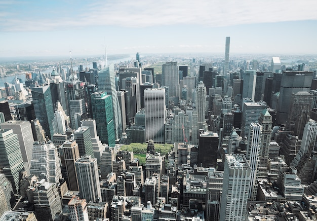 Panorama de manhattan à new york