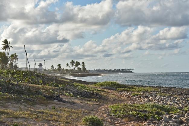 Panorama de l'océan atlantique. république dominicaine