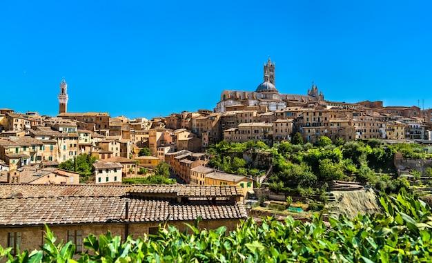 Panorama de sienne, en toscane, italie