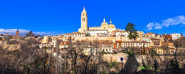 Panorama de la vieille ville de ségovie