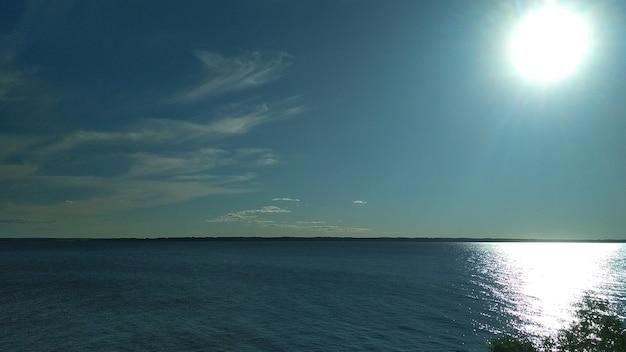 Panorama sur la volga en été