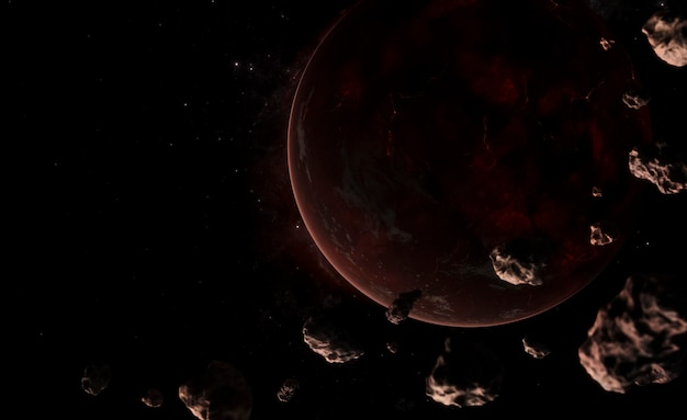 Panoramique de nuit de galaxie