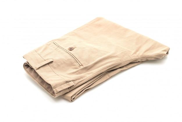 Pantalon plié beige