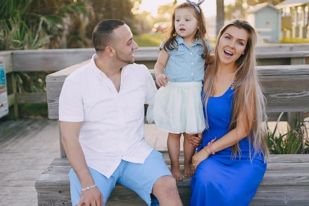 Papa maman et fille
