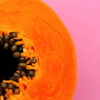 Papaye. art minimal à plat