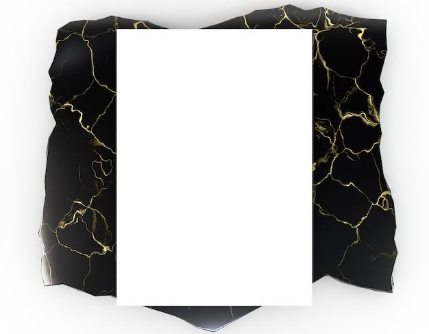 Papeterie d'entreprise vierge sur marbre de luxe