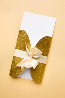 Papeterie de mariage de luxe invitation